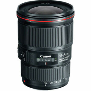 RRP $1599.95 Canon EF 16-35mm f/4L IS USM Ultra Wide Zoom Lens +UV Filter As-New