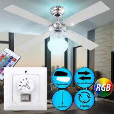 RGB LED Ventilateur de plafond coloré Pièce lampe luminaire chauffage coût Big