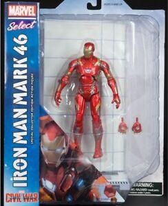 "Marvel Select Iron Man MK46  Captain America Civil War 7"" Action Figure  NEW"