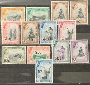 Swaziland. Definitive Short Set. SG73/77a. 1961. (14 Feb-May). MNH. #ETS121.