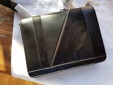 Vionnet Paris Black Leather Zip Around Shoulder Bag Purse NEW NWT