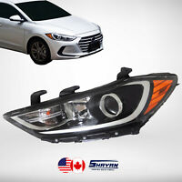 FOR: 2017 2018 HYUNDAI ELANTRA HEADLIGHT LAMP LEFT HAND / DRIVER SIDE