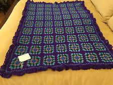 Handmade Afghan / Throw Blanket - Designer Collection - Royally Purple Grannies