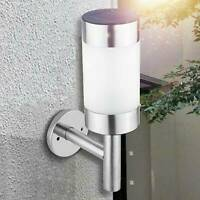 4 x solar Stainless Steel Up Down WallLight Garden Outdoor Wall Light