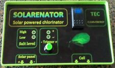 Salt Water Pool Chlorinator powered by solar panel