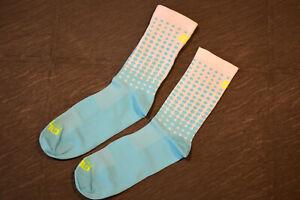 Ale Alé Calza Dots Bicycle Socks 16cm Waist Height White-Blue Polka Dotted