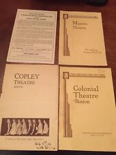 3- 1932-33 BOSTON THEATRE PROGRAMS- COPLEY, MAJESTIC, COLONIAL GEISHA BROADSIDE