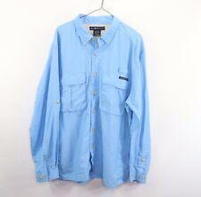ExOfficio Mens XL Long Sleeve Vented Outdoor Hiking Camping Trail Shirt Blue