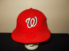 Washington Nationals 5950 New Era Official Authentic fitted 7 1/8 hat sku28