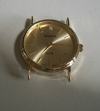Gold finish round gold dial men's watch face movement  for watches