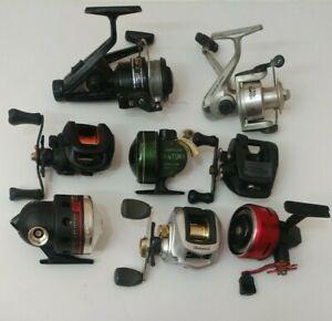 (8) Johnson Abu Garcia Lews Shimano Ozark Non Working Fishing Reels Lot of 8