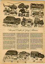 1955 PAPER AD Take Apart Toy Play Fix All House Trailer Jeep Hot Rod Truck Car