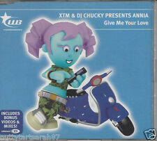 XTM & DJ CHUCKY PRESENTS ANNIA Give Me Your Love 6 Track + VIDEO 2005 Nr MINT