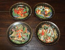 """4 Russian Legends Plates 7-3/4"""" 1st, 2nd, 3rd,9th in Series Certificates & Boxes"""