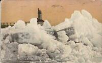 Michigan City, INDIANA - Entrance in Winter - Lake Michigan - 1912