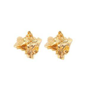Amber Sceats Reese 24K Gold Earrings Rachel Zoe Box of Style Curateur NEW