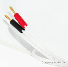 2 x 3m QED Silver Anniversary XT Speaker Cable 4mm Banana Plugs Terminated
