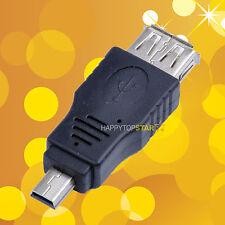 USB A 2.0 Female to Mini USB B 5 Pin Male Adapter Adaptor Converter Connector