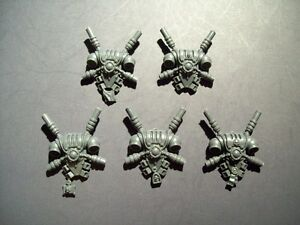 5 Space Marine Grey Knight Personal Teleporter Backpacks bits