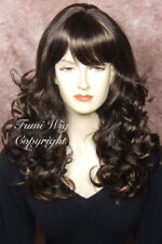 Silky Touch Curly Wig in Mixed Brown / 100% Japanese Fibre Brilliant Quality