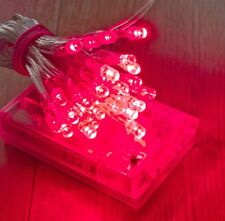 30 RED LED AA BatteryFairy Lights For Glamping T in The Park Festival Camping