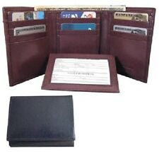 Men's Brown Trifold Smooth Leather Wallet