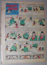 Mickey Mouse Sunday Page by Walt Disney from 1/23/1938 Tabloid Page Size