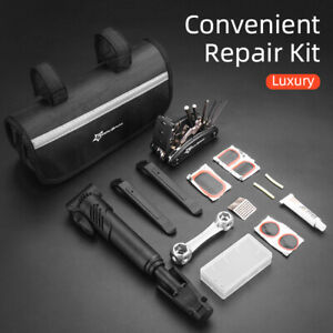 ROCKBROS Bike Portable Tyre Bike Repair Kit Tool Bag Multi-function Tool Black