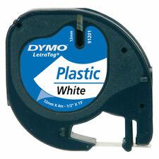 DYMO S0721610 LetraTag Tape 12mm Plastic White