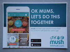 Mush App Ok Mums Let's Do This Together Advert Postcard