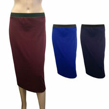 Women's Straight, Pencil Casual Calf Length Polyester Skirts