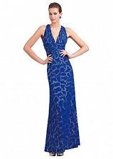 New Alberto Makali Cobalt blue evening dress US6 UK10  RRP 849$