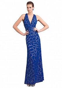New Alberto Makali Cobalt blue evening, prom dress US6 UK10  RRP $549