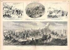 Bataille de Saint-Privat de Gravelotte Maréchal Bazaine Hussards GRAVURE 1873