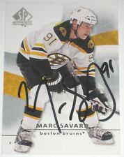 MARC SAVARD SIGNED 08-09 UPPER DECK SPA BOSTON BRUINS CARD AUTOGRAPH AUTO!!!