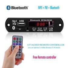Bluetooth DC 5V/12V MP3 WMA Decoder Board Audio Module TF USB Radio for Car