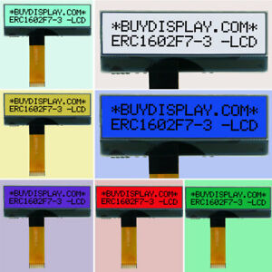 Slim 7 Colors 16x2 Character LCD Module w/Tutorial,FPC Connection,Connector