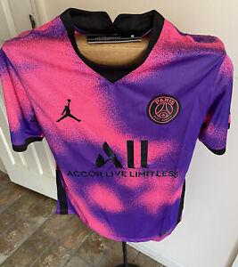 PSG Pink Purple Fourth Kit 2021 Jersey Adult Small