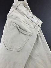 7 FOR ALL MANKIND LUXE SPORT SLIMMY Khaki Beige Jeans Sz 30 (Measures 30x33)