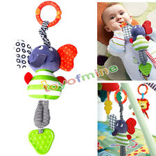 Baby Buggy Toys Bed Pram Cute Elephant Music Hanging Bell Stroller Teether Gift