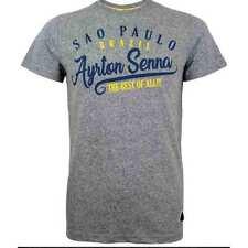 Aryton Senna T-Shirt Vinatge Sao Paulo Grey Large