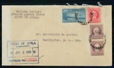 Mayfairstamps HABANA COMMERCIAL 1939 COVER CIEGO DE AVILA REGISTERED wwh 97299