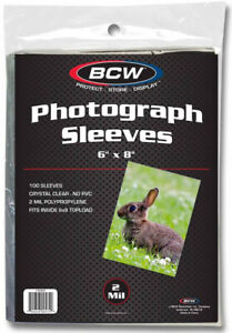 "Bcw Photo Sleeves (6"" 1/16 X 8"" 1/16)  - BRAND NEW"