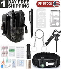 65in1 Survival Kit Camping Hunting Tactical Backpack EmergencyGear First Aid Kit