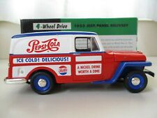 SPEC CAST / LIBERTY - PEPSI - 1953 WILLYS JEEP PANEL DELIVERY - BANK / DIECAST