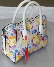 Ladies Daisy Floral Handbag Messenger Bag Cross Body School Work Shoulder Bag