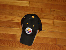 NEW NFL TEAM APPAREL PITTSBURGH STEELERS FOOTBALL ADJUSTABLE STRAP BASEBALL CAP