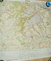 "VINTAGE BRITISH ARMY TRAINING MAP SENNYBRIDGE 1988 POSTER SIZE 32.5"" X 35"""