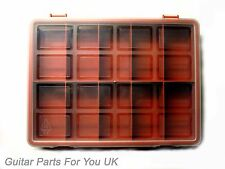 10 compartment lidded storage box Guitar parts tools