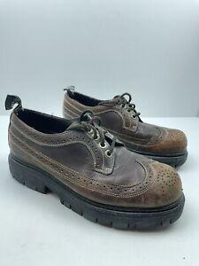 london underground Mens Platform Wingtip Shoes Size 10M